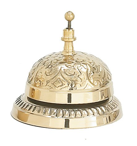 Solid Brass Victorian Style Service Desk Bell