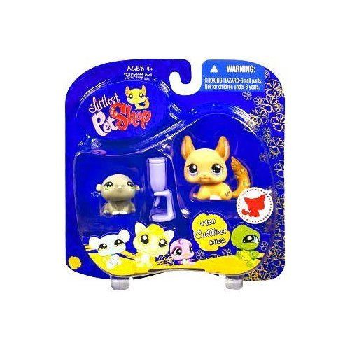 Buy Low Price Hasbro Littlest Pet Shop Assortment 'A' Series 4 Collectible Figure Hamsters with Water Bottle (B002BZEUAI)