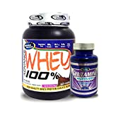 Advance Glutamine 100gm Unflavoured& ADVANCE 100% WHEY 25gm Protein Per 33gm 1kg Chocolate (Combo Offer)