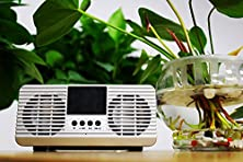 buy Braudel® Vintage Alarm Clock Acoustic Super Bass Portable Wireless Bluetooth Speaker With Built-In Microphone, Support Fm Radio/ Tf Card/ Usb/ 3.5Mm Aux In,Creative Christmas Gift (Silver)