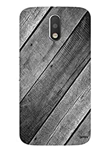 Gobzu Printed Designer Hard Case Back Cover for Moto G 4th Gen / Moto G Plus 4th Gen / Moto G4 - Black Wood