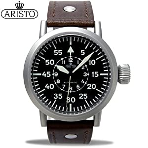 3c7173f8791 Aristo 3H58A 44mm Automatic Pilot s Watch Large Crown and Sapphire Crystal
