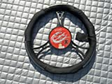 Alfa Romeo 155 / 156 Car Steering Wheel Cover- SWC 1 M Black Italian Leather