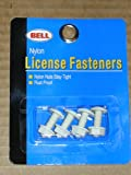 License Plate Fasteners, Rust Proof Nylon Nuts and Bolts, 1 Set