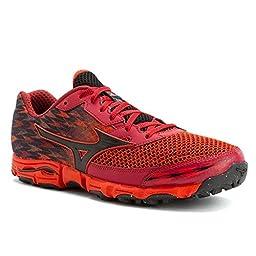 Mizuno Men\'s Wave Hayate 2 Running Shoe, Orange/Black, 8.5 D US