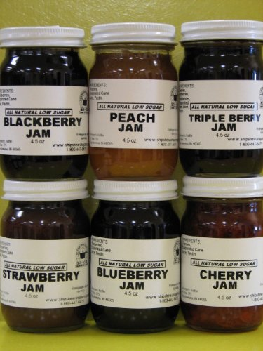Low Sugar all Natural Jams Gift Box (6-4.5 oz