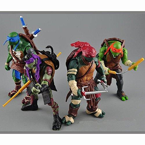 2016 NEW 4 Pcs/set Teenage Mutant Ninja Turtles TMNT 2 Action Figures Toy Set