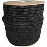 SGT KNOTS 3/8 inch Utility Rope Made in USA - Black, OD Green, Camo, Red, Blue, Pink, Orange, Tan / Brown - 50 Feet or 100 Feet