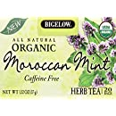 Bigelow Organic Moroccan Mint Herb Tea, 1.32-Ounce Boxes (Pack of 6)