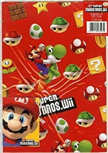 Super Mario Bros .: Gift Wrap With Gift Tags