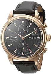 Bulova Men's 64C104 Gemini Analog Display Swiss Automatic Brown Watch