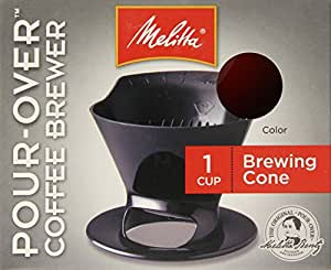 Melitta Coffee Maker,  Single Cup Pour-Over Brewer, Red (Pack of 8)