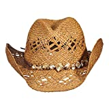 Tommy Bahama Women's Raffia Outback With Shell Trim Hat