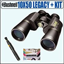 Bushnell 12-0150 10x50 Legacy WP Wide Angle Binoculars Plus Accessory Package