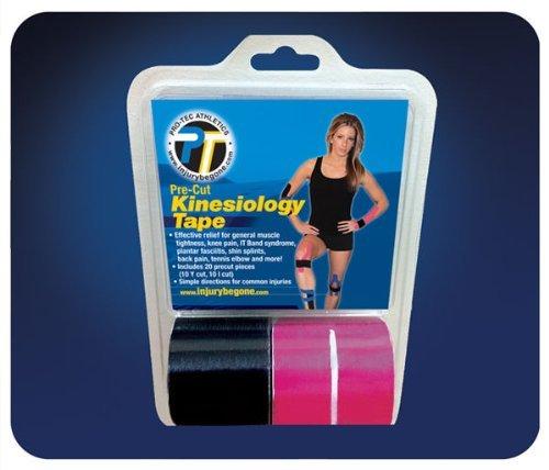 Pro-Tec Athletics Pre-Cut Kinesiology Tape (Yellow/Pink))