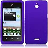 For Huawei Ascend Plus H881C Silicone Jelly Skin Cover Case Dark Purple Accessory