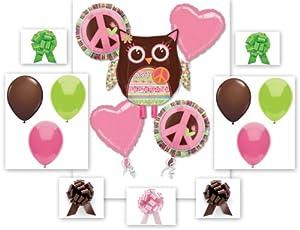 16 Piece HIPPIE CHICK Balloon Baby Shower Birthday Party Pack