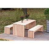 binnen-Markt Gartenmöbel Set 1 Heimisches Holz Douglasie Natur
