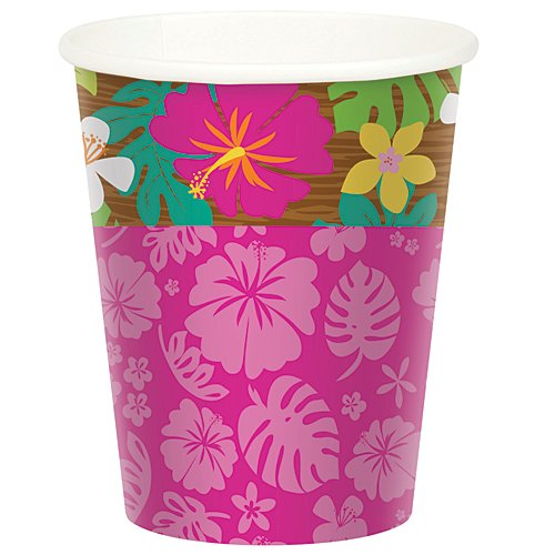 Hula Girl Birthday Cups Package of 8
