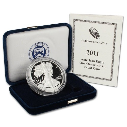 2011 W American Silver Eagle Proof $1 OGP US Mint