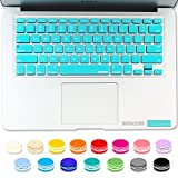 iBenzer - Macaron Serie Turquoise Keyboard Cover Silicone Rubber Skin for Macbook Pro 13'' 15'' 17'' (with or without Retina Display) Macbook Air 13'' and iMac - Turquoise MKC01TBL