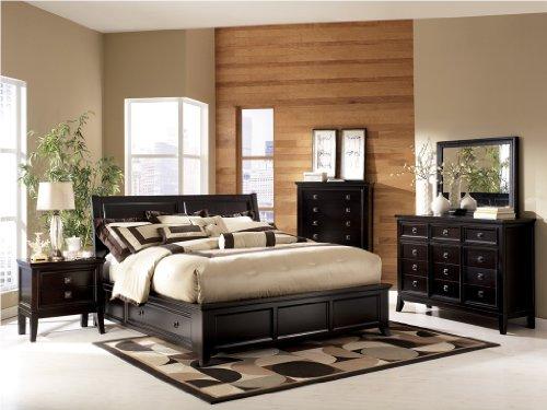 Martini Suite 5 Piece Platform Storage Bedroom Set