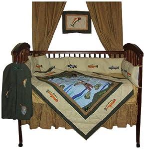 Amazon Com Patch Magic Fly Fishing Crib Bedding