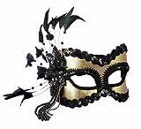 Forum Fantasy Half Mask, Gold, One Size