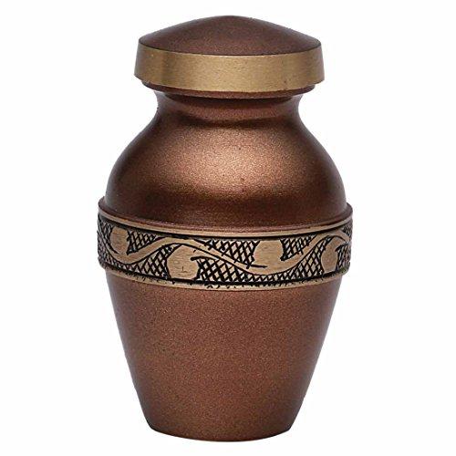 """Mini Derby cioccolato """"cenere Urna commemorativa, taglia S UK-Urna cremazione Funeral"""