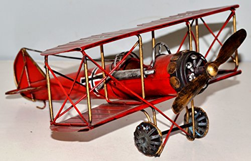 Aeroplane Fokker 1918 1 WK Tin Blechflugzeug Blechmodell Plan Vintage Tin Model: approximately 30 x 26 cm 37095