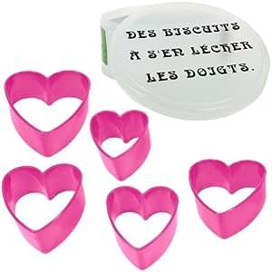 Coffret Lot 5 Emporte Piece Patisserie Biscuit Humour Forme Cur