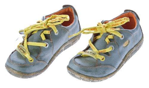 Damen Leder Halb Schuhe Comfort Sneakers Grau Used Look Turnschuhe TMA Eyes Gr. 36
