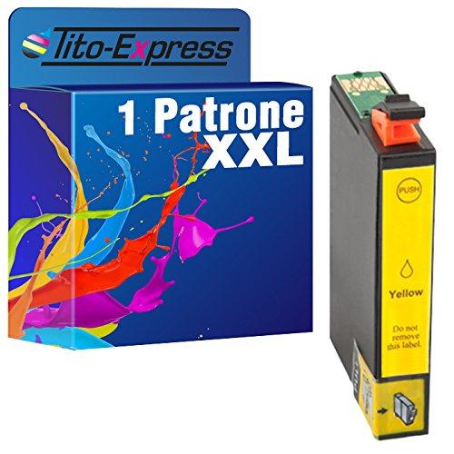 1x Druckerpatrone XXL für Epson TE1814 Yellow PlatinumSerie Drucker : Epson Expression Home XP-102 XP-202 XP-205 XP-30 XP-302 XP-305 XP-402 XP-405 XP-212 XP-312 XP-412 XP-415 , 18 ml Inhalt