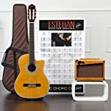 Esteban Granada Acoustic Electric Classical Guitar Package w/ Amp, 10 DVDs and Accessories