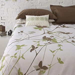 3Pcs Cal-King or Full// Queen Natori duvet cover mini set King Green