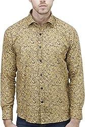 Unixx Men's Casual Shirt (UXXS-20_Yellow_42)
