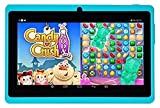 """Solotab S7Q Bundle HD Quad-Core 7"""" Tablet PC Google Android 4.4 KitKat, 1024x600 HD Multi-Touch Screen, Dual-Cameras, 8GB Flash, Google Play App Store, Wi-Fi & Bluetooth, Turquoise, 7 Piece review"""