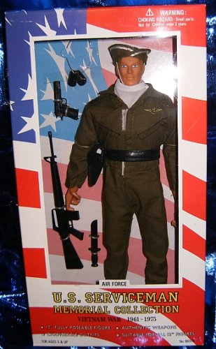 Buy Low Price Formative International U.S. Serviceman Memorial Collection Air Force man doll, Vietnam War 1961-1975 Figure (B001CK8B1C)