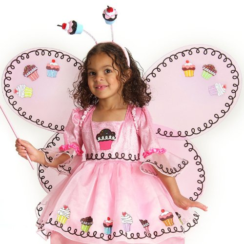 Princess Paradise Girls Cupcake Fairy Child Wings Pink One Size