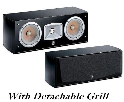 "Yamaha Center Channel Speaker - Magnetically Shielded 2-Way Bass-Reflex Acoustic Suspension With Dual 5"" Polymer-Injected Mica Diaphragm Cone Woofer & Movie Theater Waveguide Horn"
