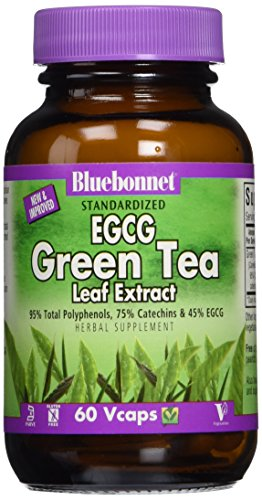 BlueBonnet EGCG Green Tea Leaf Extract Supplement, 60 Count