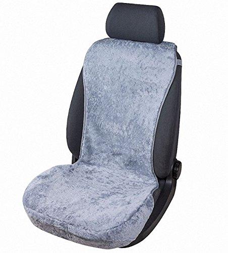 kuschelweiche Universal Lammfell Autositz Auflage grau für alle PKW, Sommer + Winter, 100% australische Lammfelle