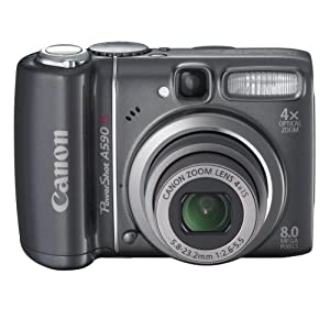 Canon PowerShot A590IS 8MP Digital Camera with 4x Optical Image Stabilized Zoom