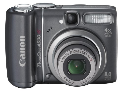 Canon PowerShot A590 IS is one of the Best Point and Shoot Digital Cameras for Low Light Photos Under $200