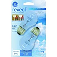 GE Lighting 48698 60A15/CF/RVLCD2 Reveal Ceiling Fan Bulb