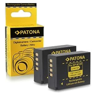 2x Batteria NP-W126 per FujiFilm FinePix X-Pro 1 | HS30 EXR | HS30EXR | HS-30EXR | HS33 EXR | HS33EXR | HS-33EXR | HS50EXR | X-E1 | X-M1
