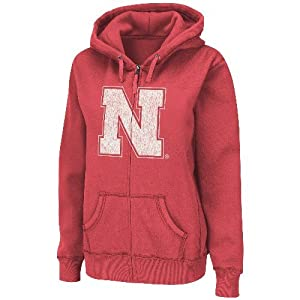 Nebraska Cornhuskers Ladies NCAA Cozy II Full Zip Vintage Sweatshirt by Colosseum
