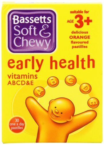 Bassett'S Soft And Chewy Early Health Vitamins Abcd And E Age 3+ Orange - Pack Of 30 Pastilles