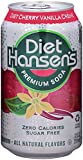 Hansen's Diet Soda Cans, Cherry Vanilla Crème, 12 Ounce (Pack of 24)