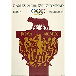 rome  1970  olympic games  art poster print unknown 12x16
